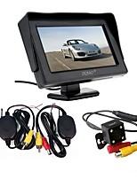 abordables -ZIQIAO 4.3 pouces Autre CCD Sans Fil 170 Degrés Kit de vue arrière de voiture Imperméable pour Automatique