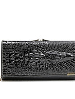 cheap -Women's Bags PU Wallet Embossed for Casual All Seasons Black Red Purple
