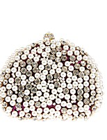 cheap -Women's Bags Terylene Evening Bag Crystals / Pearls Black / Purple