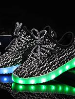 Недорогие -Мальчики / Девочки Обувь Трикотаж / Тюль Лето / Осень Обувь с подсветкой Кеды LED для Детские Черный / Серый