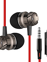 cheap -In Ear Cable Headphones Hybrid Plastic Mobile Phone Earphone with Volume Control / Stereo Headset
