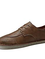 Недорогие -Муж. обувь Наппа Leather / Кожа Весна / Осень Удобная обувь / Обувь для дайвинга Кеды Для прогулок Черный / Коричневый / Хаки