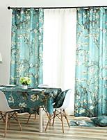 abordables -Rideaux Tentures Salle de séjour Fleur Coton / Polyester Imprimé