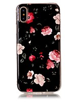 economico -Custodia Per Apple iPhone X iPhone 8 Ultra sottile Per retro Fiore decorativo Morbido TPU per iPhone X iPhone 8 Plus iPhone 8 iPhone 7