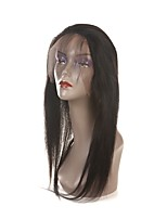 Недорогие -Laflare Жен. Прямой 360 Лобовой Перуанские волосы Швейцарское кружево Натуральные волосы Бесплатный Часть Средняя часть 3 Часть С