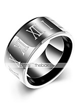 cheap -Men's Knuckle Ring - Circle Casual Black Ring For Daily Street