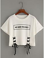 abordables -Mujer Activo Camiseta Un Color Letra