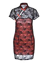 abordables -Costumes Uniformes & Tenues Chinoises Vêtement de nuit Femme - Ouvert Imprimé, Couleur Pleine