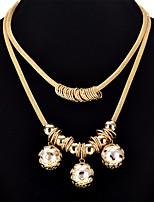 abordables -Femme Balle Pendentif de collier Colliers Déclaration  -  Large Gothique Européen Forme de Cercle Forme Géométrique Or 50cm Colliers