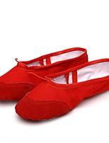 abordables -Homme Chaussures de Ballet Toile Semelle Pleine / Basket Intérieur Fantaisie Talon Plat Personnalisables Chaussures de danse Rouge