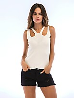 cheap -Women's Active Tank Top-Solid Colored,Cut Out