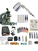 cheap -Tattoo Machine Starter Kit - 1 pcs Tattoo Machines with 7 x 15 ml tattoo inks, Variable Speeds, Professional, Adjustable LCD power supply