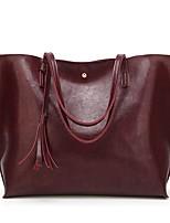 baratos -Mulheres Bolsas Couro Ecológico Tote Mocassim para Casual Escritório e Carreira Todas as Estações Preto Rosa Vermelho Escuro Cinzento