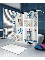 cheap -Shower Curtains & Hooks Contemporary Modern Polyester Novelty Machine Made Waterproof Bathroom