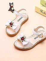 cheap -Girls' Shoes Leatherette Summer Flower Girl Shoes Comfort Sandals for Casual White Pink