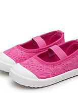 cheap -Girls' Shoes Canvas Spring Fall Comfort Loafers & Slip-Ons for Casual White Gray Pink