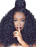 cheap -Unprocessed Wig Brazilian Hair Kinky Curly Curly Layered Haircut 180% Density With Baby Hair For Black Women African American Wig Black