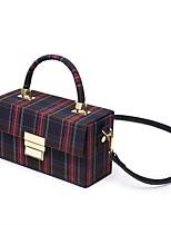 preiswerte -Damen Taschen PVC Umhängetasche Geprägt Blau / Rote
