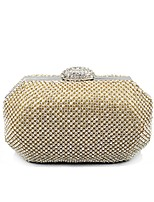 cheap -Women's Bags Terylene Evening Bag Crystals for Event / Party / Casual Gold / Silver