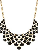 cheap -Women's Drop Statement Necklace  -  Oversized Fashion Black 46cm Necklace For Birthday Evening Party