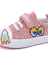 cheap -Girls' Shoes Canvas Spring Fall Comfort Sneakers for Casual Gray Light Pink