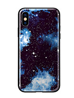 voordelige -hoesje Voor Apple iPhone X iPhone 8 Patroon Achterkant Landschap Hard Gehard glas voor iPhone X iPhone 8 Plus iPhone 8 iPhone 7 iPhone 6s