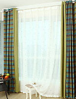 Недорогие -Шторы портьеры Гостиная Контрастных цветов Современный стиль Хлопок / полиэфир С принтом