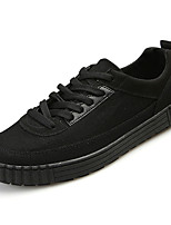 cheap -Men's Shoes Canvas Spring / Fall Light Soles Sneakers White / Black