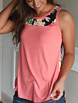 abordables -Tee-shirt Femme, Fleur Mosaïque