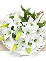 abordables -Fleurs artificielles 1 Une succursale style pastoral Lis Fleur de Table