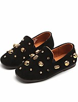 cheap -Girls' Boys' Shoes Nubuck leather Spring Fall Moccasin Comfort Loafers & Slip-Ons for Casual Black Gray Brown