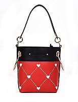 cheap -Women's Bags PU Shoulder Bag Zipper for Casual All Seasons White Red Yellow