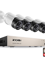 cheap -ZOSI® Security System 4ch CCTV System DVR Security System 4CH 1TB 4 x 1080P Security Camera 2.0mp Camera DIY Kits