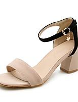 abordables -Femme Chaussures Cuir Nubuck Printemps / Eté A Bride Arrière Chaussures à Talons Talon Bottier Beige / Vert Véronèse / Rose