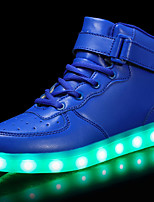 cheap -Boys' Shoes Faux Leather Fall / Fall & Winter Comfort / Light Up Shoes Sneakers Lace-up / Hook & Loop / LED for Kids Red / Blue / Pink