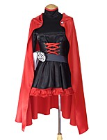 cheap -Inspired by RWBY Ruby Rose Anime Cosplay Costumes Cosplay Suits Other Long Sleeves Dress Cloak More Accessories Sash / Ribbon Waist Belt