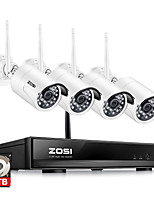 cheap -ZOSI® 4CH 1080P HDMI Wifi NVR 2.0MP Security System IR Outdoor Waterproof CCTV Camera Wireless Surveillance System 1TB HDD