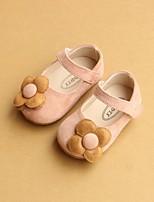 Недорогие -Девочки обувь Дерматин Весна Осень Обувь для малышей Удобная обувь На плокой подошве для Повседневные Серый Зеленый Розовый