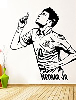 cheap -Decorative Wall Stickers - Words & Quotes Wall Stickers People Wall Stickers Famous Football Living Room Kids Room
