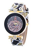 abordables -Mujer Cuarzo Reloj de Moda Chino Esfera Grande PU Banda Casual Moda Negro Blanco Rojo Marrón Verde Rosa