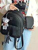 preiswerte -Damen Taschen PU Bag Set 3 Stück Geldbörse Set Reißverschluss für Normal Blau / Schwarz / Rosa