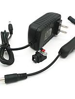 Недорогие -ZDM® 1шт 100-240V EU US Газонокосилка Электрический разъем Переключатель кнопок Источники питания пластик для светодиодной полосы света
