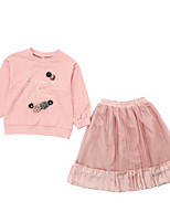cheap -Kids Girls' Solid Colored Long Sleeves Clothing Set