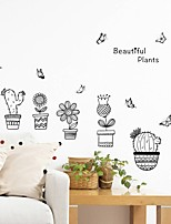 cheap -Decorative Wall Stickers - Plane Wall Stickers Floral / Botanical Living Room Bedroom Bathroom Kitchen Dining Room Study Room / Office