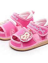 Недорогие -Девочки Мальчики обувь Ткань Лето Обувь для малышей Удобная обувь Сандалии для Повседневные Лиловый Синий Розовый