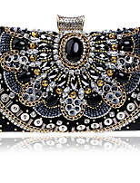 cheap -Women's Bags Polyester Evening Bag Crystals for Event / Party Black