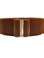 cheap -Women's Active Basic Alloy Wide Belt - Solid Colored