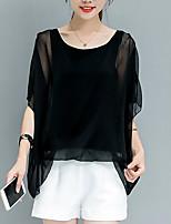 Недорогие -Жен. Блуза Классический Уличный стиль Однотонный