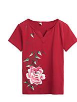 abordables -Mujer Básico Camiseta Floral
