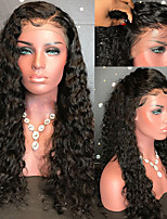 cheap -Remy Human Hair Wig Brazilian Hair Curly 130% Density With Baby Hair With Bleached Knots Unprocessed African American Wig Natural Hairline